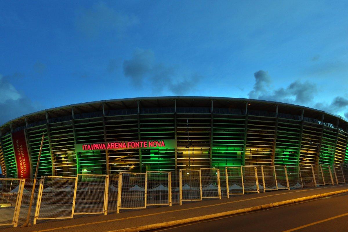 [Arena Fonte Nova recebe iluminação especial no Dia Mundial do Meio Ambiente]