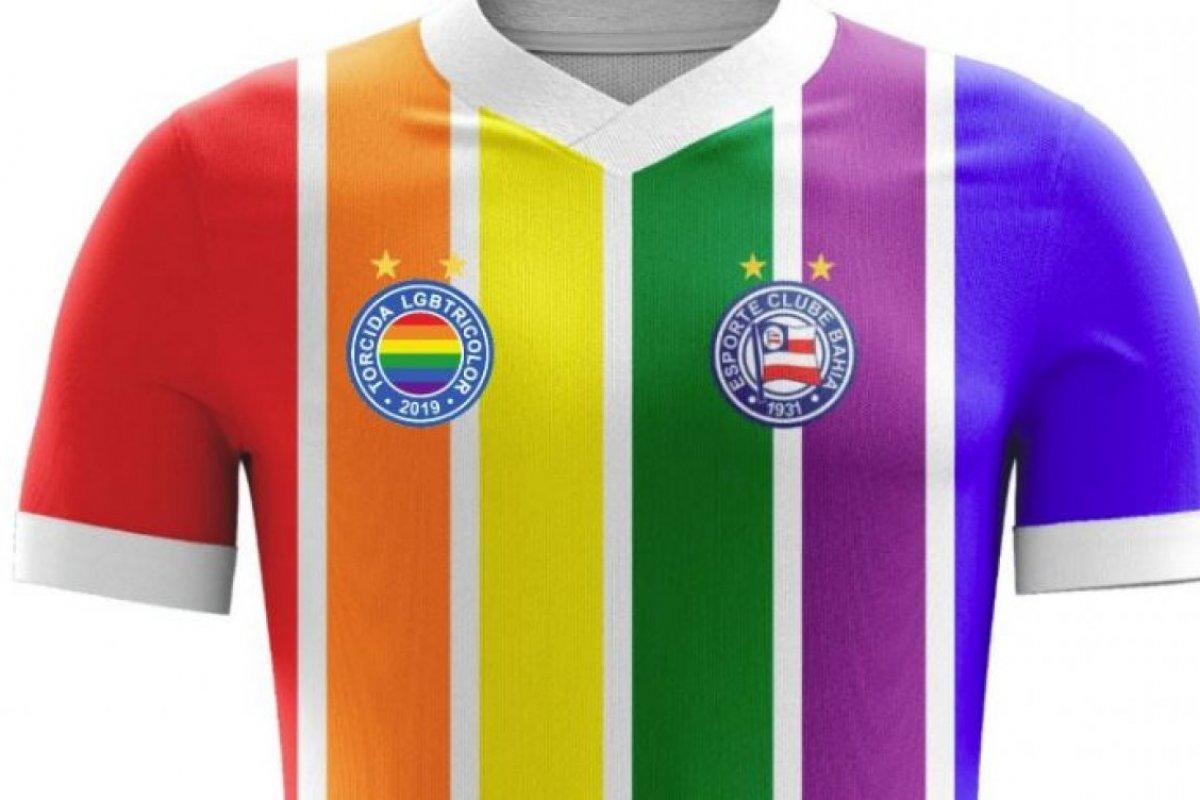 [Torcida do Bahia lança camisa LGBT]