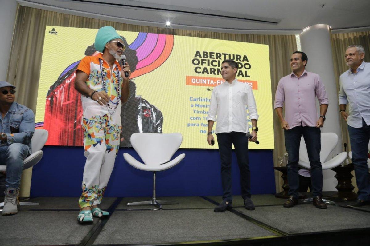 ['Retorno' de Carlinhos Brown ao carnaval custou R$ 600 mil à prefeitura]