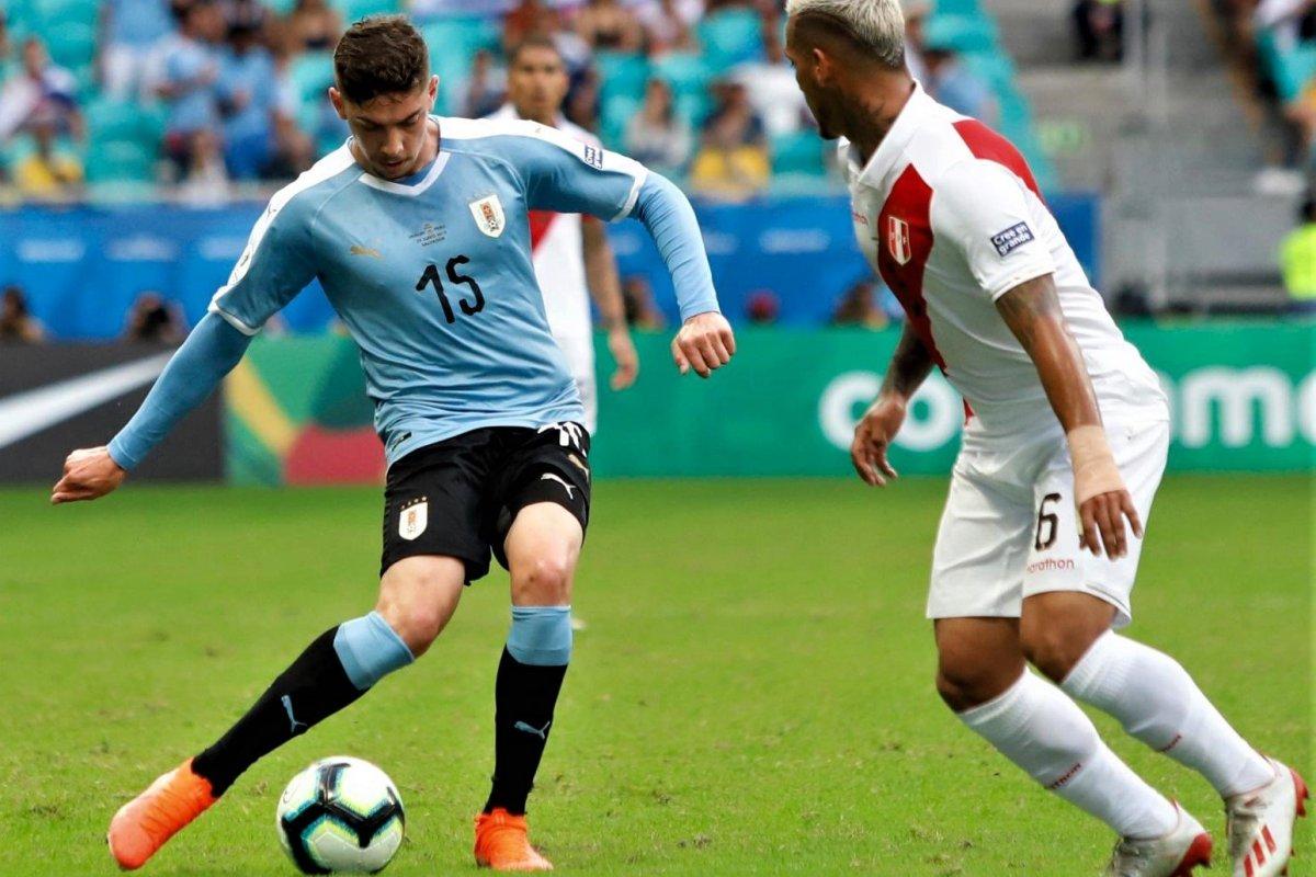 [Uruguai e Peru vão empatando na Fonte Nova]