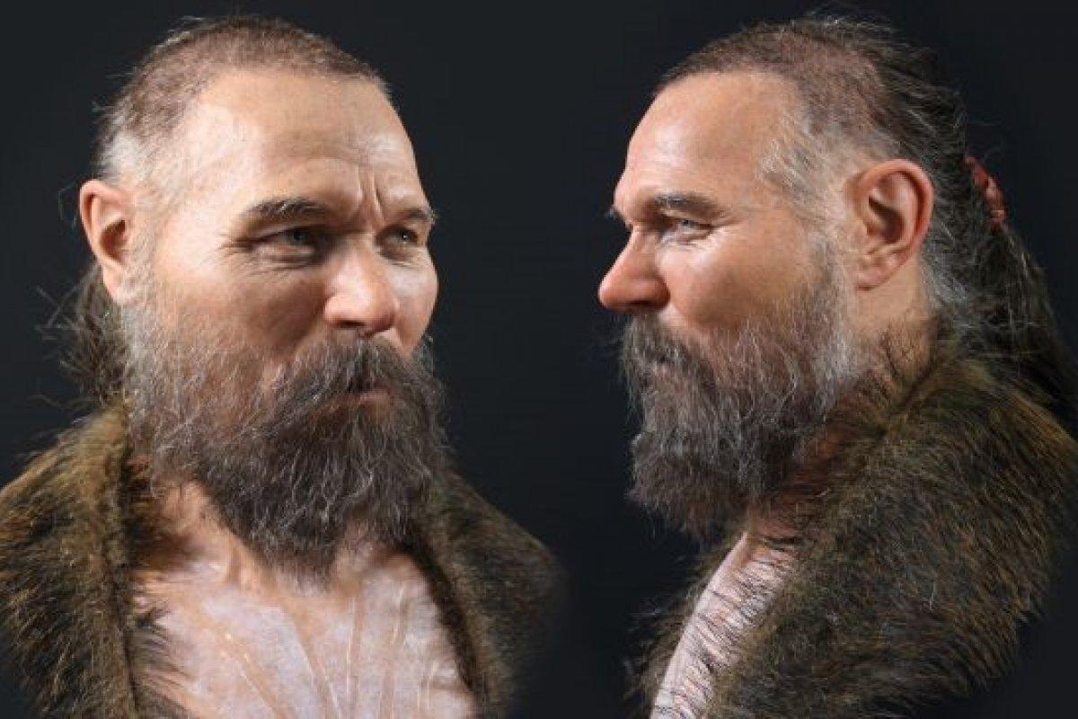 [Artista recria rosto de homem da Idade da Pedra de forma virtual]