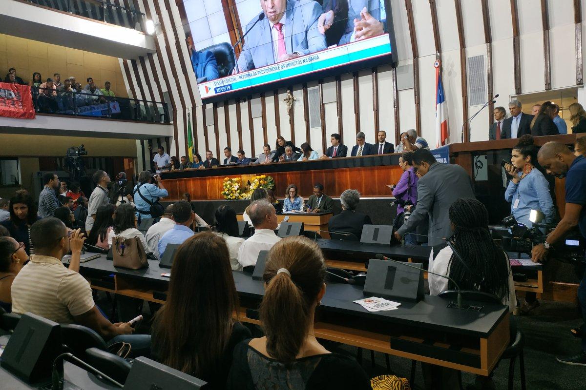 [Deputados e sindicalistas discutem reforma da Previdência durante audiência pública na Assembleia Legislativa da Bahia]