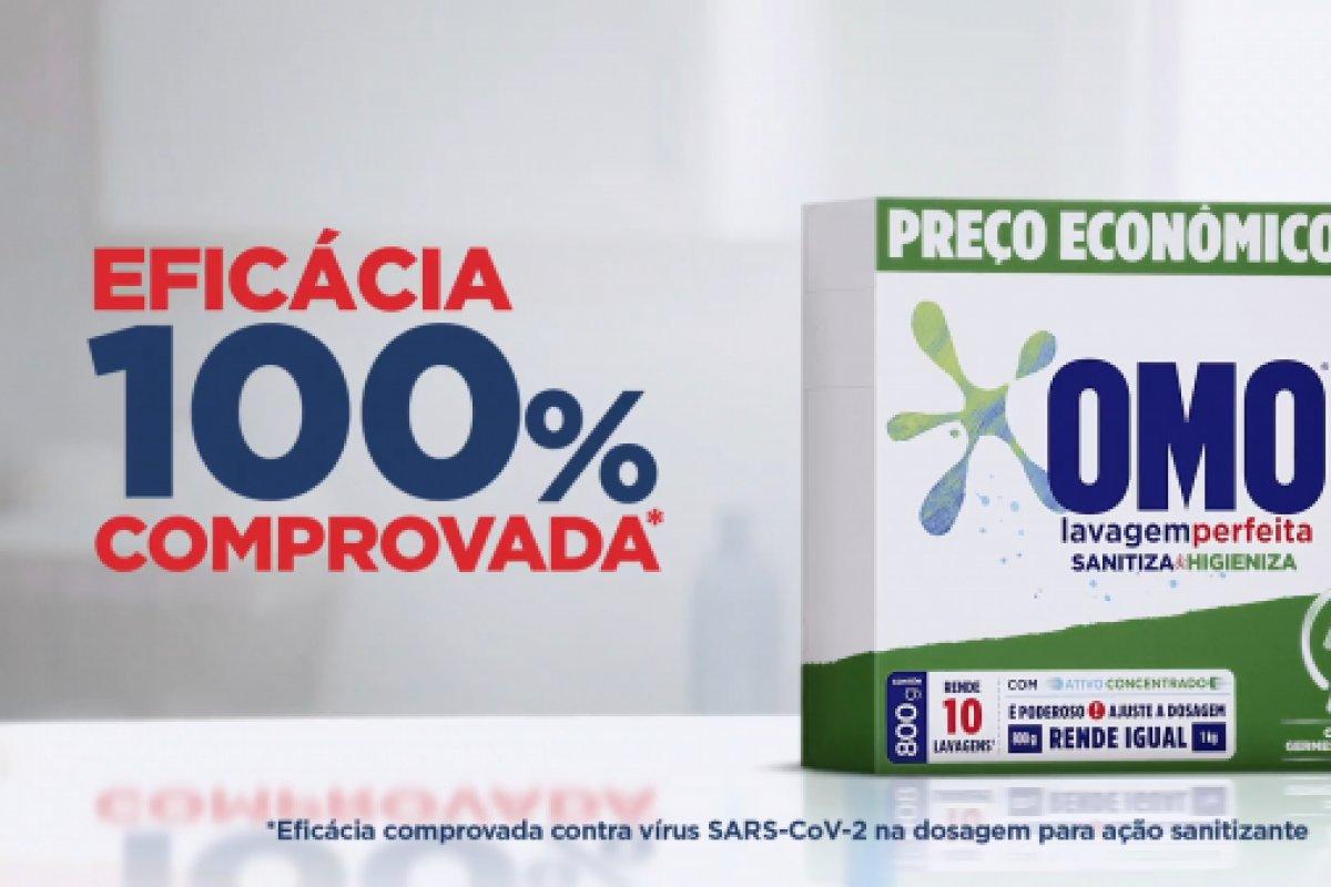 [OMO lança 1º sanitizante para roupas do Brasil com eficácia comprovada contra o vírus da COVID-19]