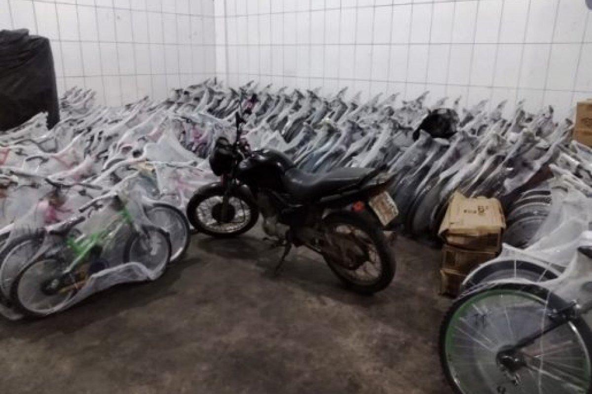 [Polícia recupera carga de bicicletas avaliada em R$ 50 mil]