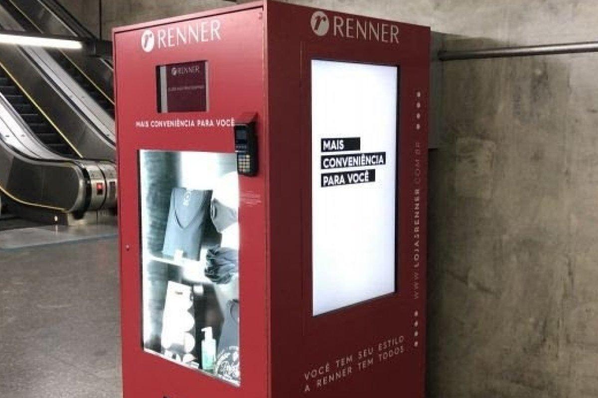 [Renner lança sua primeira vending machine em estação do Metrô de SP]