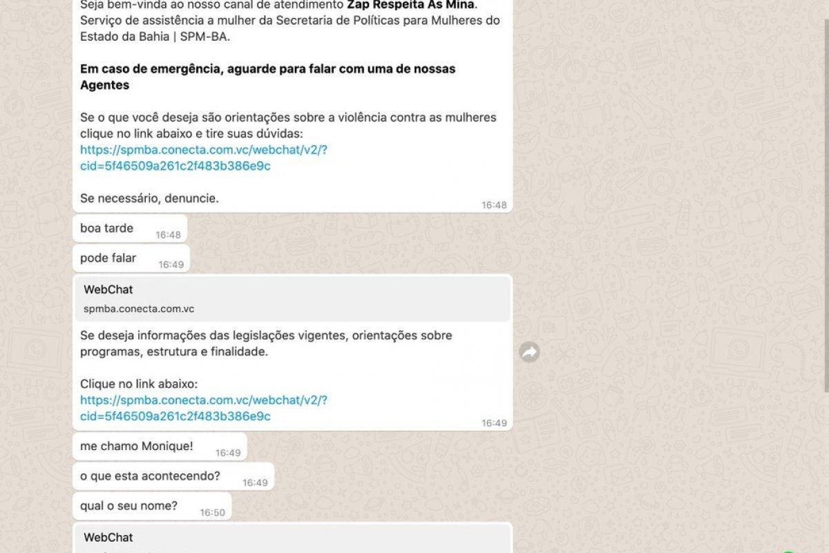[Mulheres já podem denunciar violência doméstica pelo WhatsApp na Bahia]