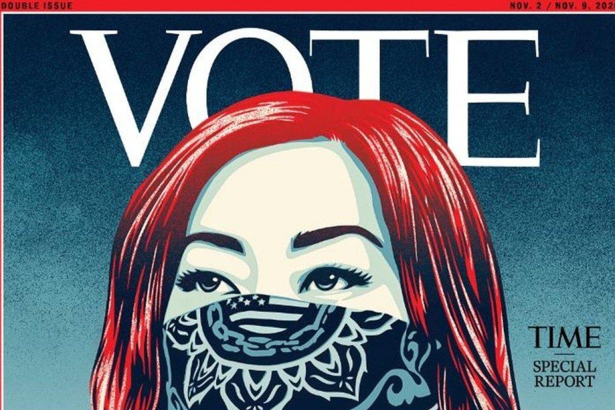 [Pela primeira vez, revista 'Time' substitui clássica logomarca por 'Vote']