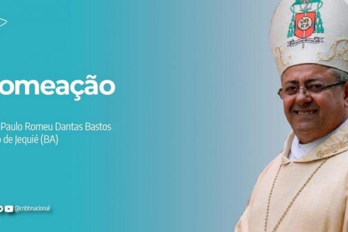 [Dom Paulo Romeu Dantas Bastos é nomeado como novo bispo de Jequié]