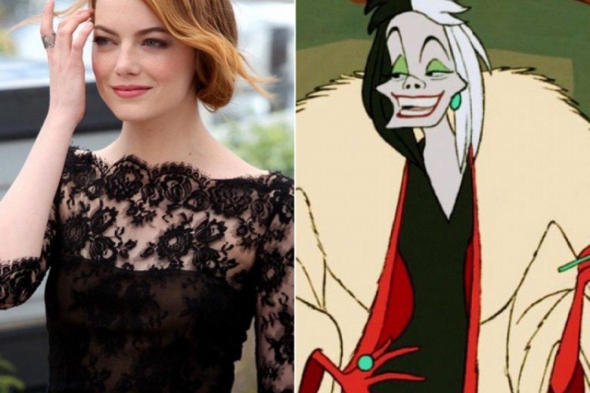 [Disney divulga primeira foto de Emma Stone como Cruella ]