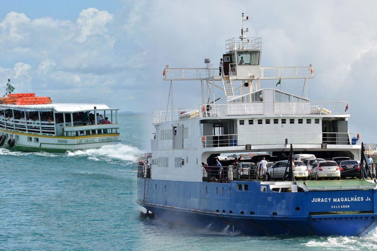 [Começa nesta sexta-feira (11) a suspensão do embarque de caminhões e ônibus no ferry-boat entre sextas e segundas]