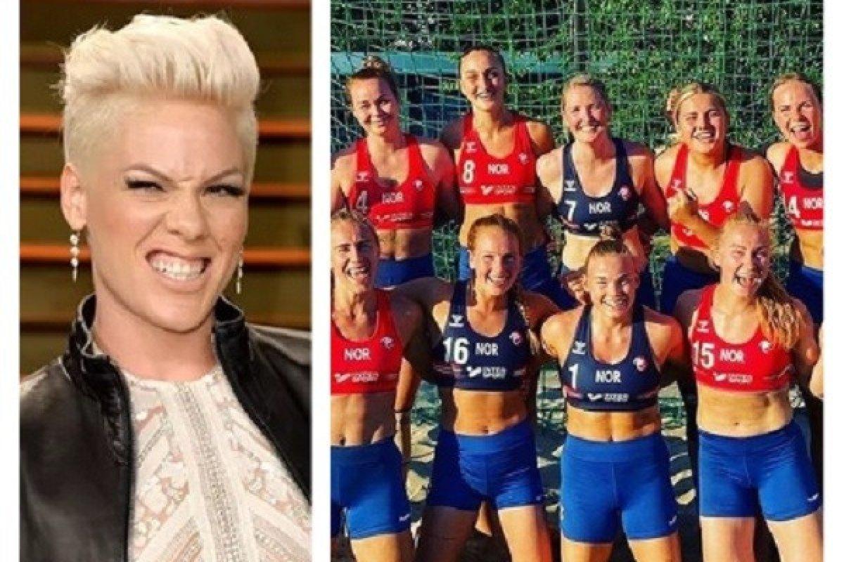 [Cantora Pink quer pagar multa da seleção norueguesa de handebol]