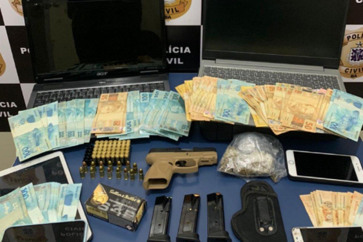 [Suspeito de tráfico, lavagem de dinheiro e fraudes bancárias é preso no sudoeste da Bahia]
